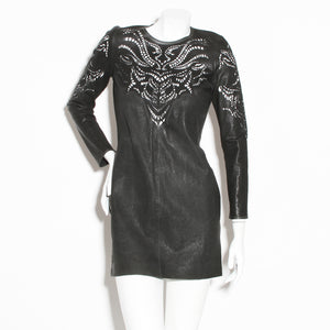 Marant Leather Cutout Dress