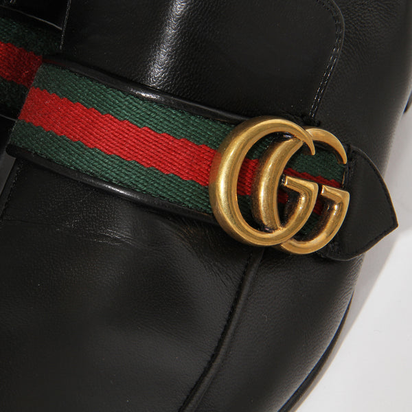 "Gucci ""Peyton"" GG Marmont Leather Riding Boot"