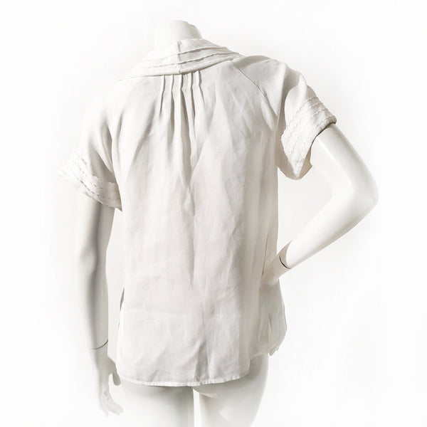 Chanel Layered Linen Blouse