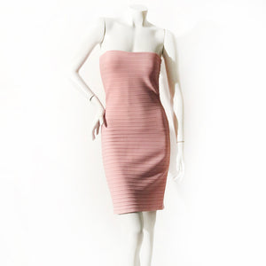 Herve Leger Strapless Bodycon Dress