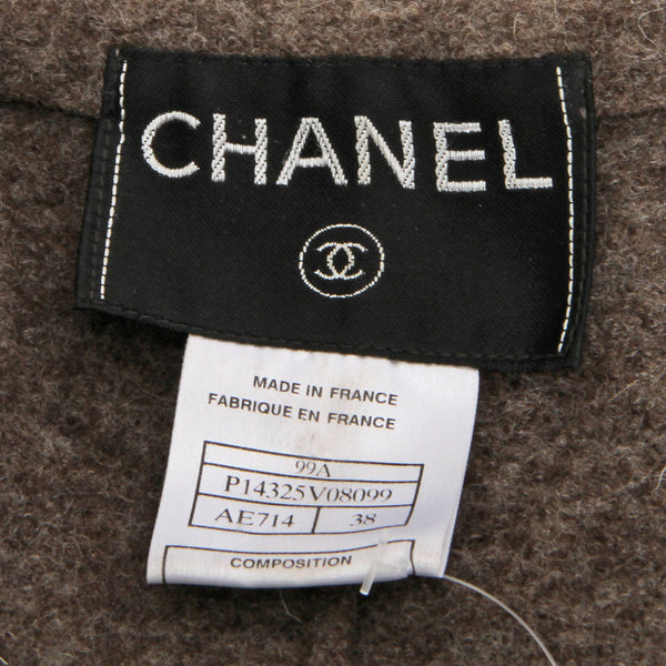 Chanel Wool Fitted Jacket with Zipper