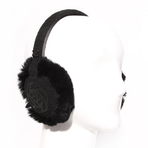Chanel Black Camelia Earmuffs