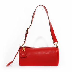Prada Red Daino Box Handbag