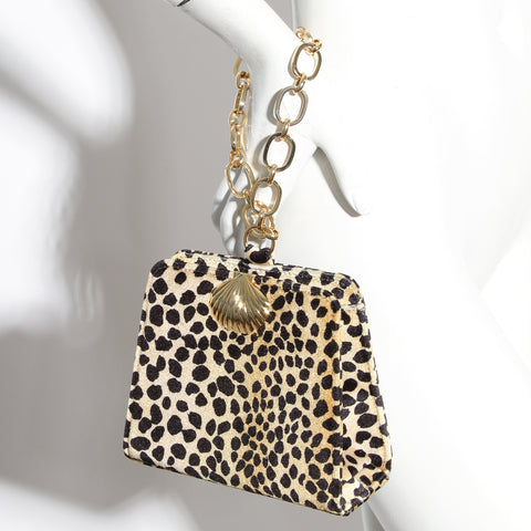 Rixo Leopard Structured Handbag