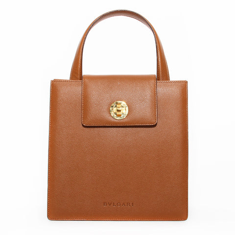 Bvlgari Brown Leather Handbag