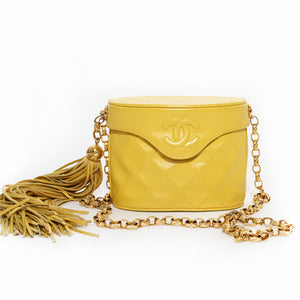 Chanel Yellow Binocular Handbag with Fringe