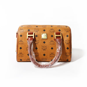 MCM Heritage Boston Satchel Bag