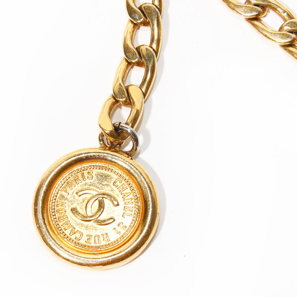 Chanel Gold Chain Belt with Coin Details