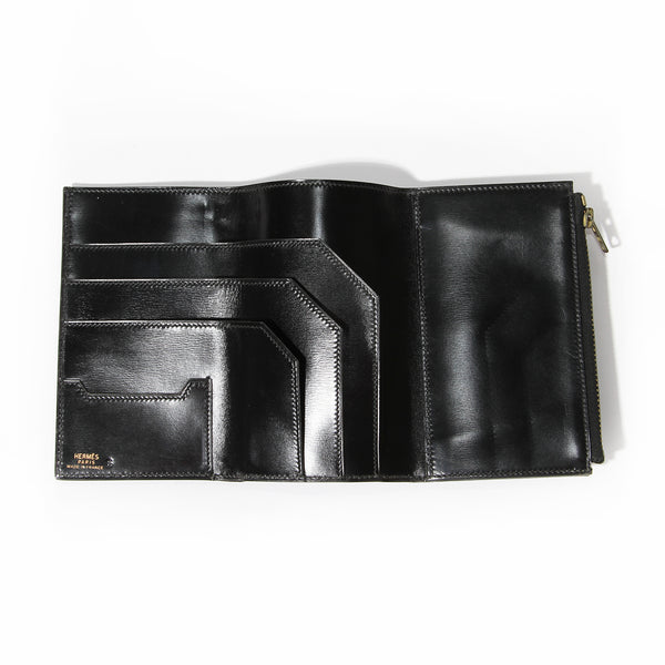 Hermés Leather Trifold Long Wallet