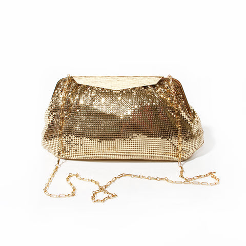 Whiting & Davis Gold Chainmesh Clutch