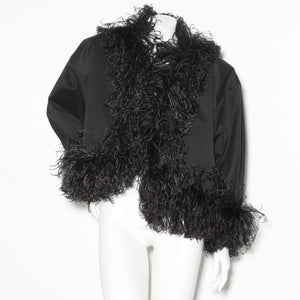 Vintage YSL Feather Trim Jacket