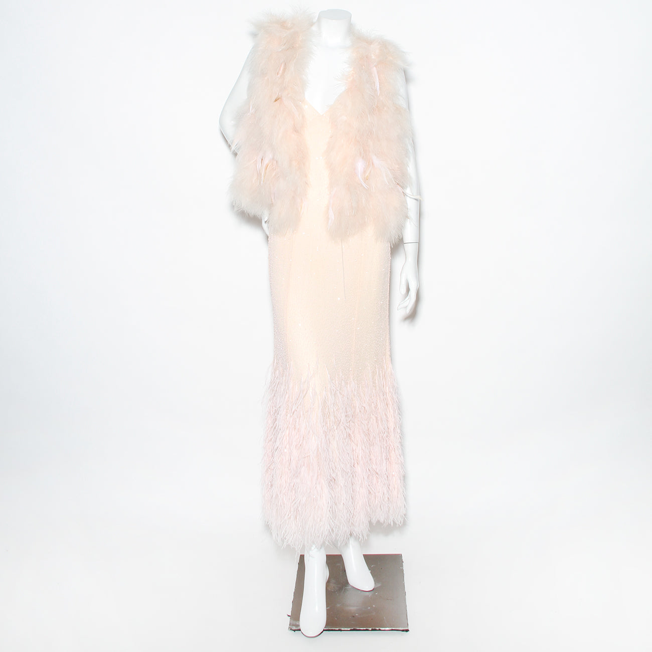 Cavalli Beaded and Feathered Dress