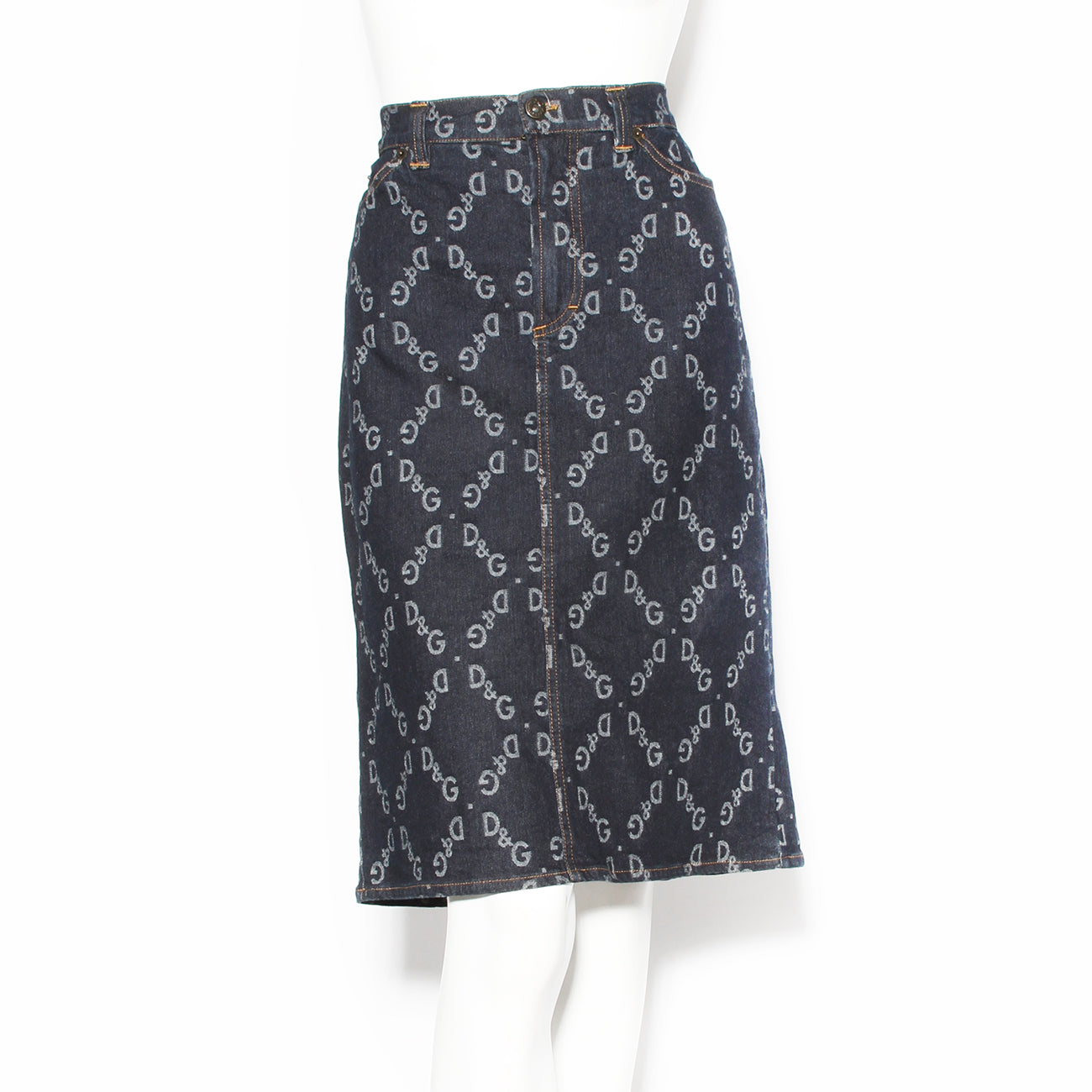 D&G Logo Denim Skirt