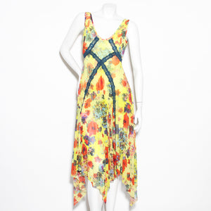 JPG Yellow Floral Print Dress