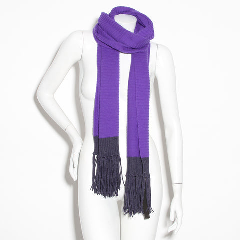 Chanel Fringe Ribbed Scarf