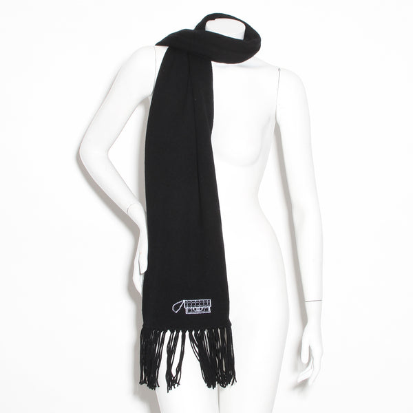 Chanel Fringe Scarf (Black)