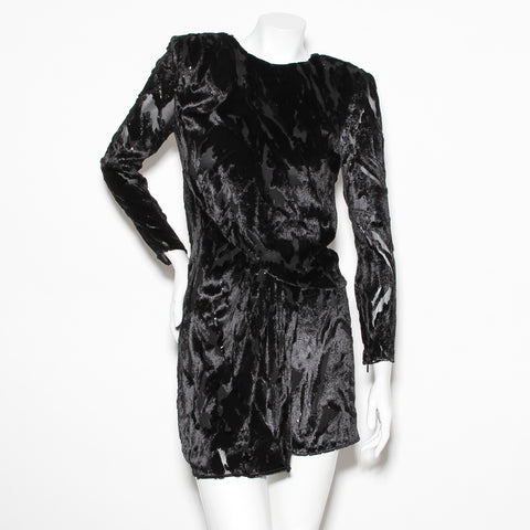 Saint Laurent Lurex and Velvet Dress