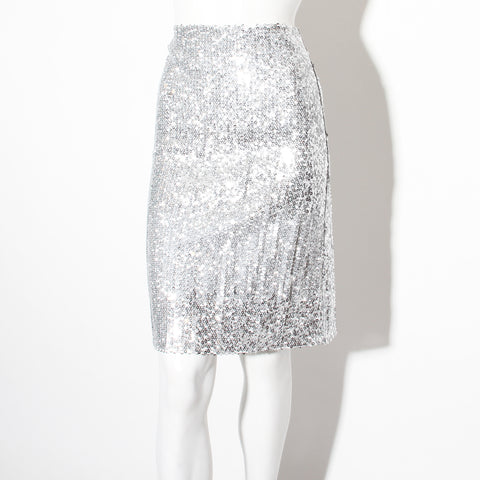 Nina Ricci Sequin Pencil Skirt