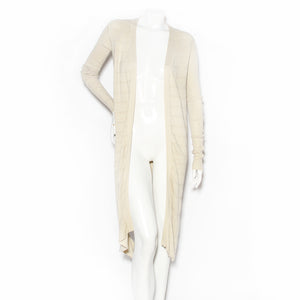 Rick Owens Duster Cardigan with Diamond Cut-Outs