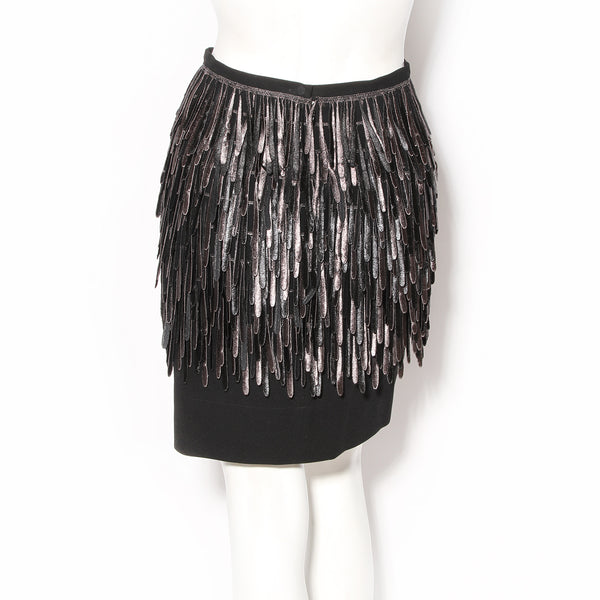 Fendi Silk Fringe Skirt FW2007
