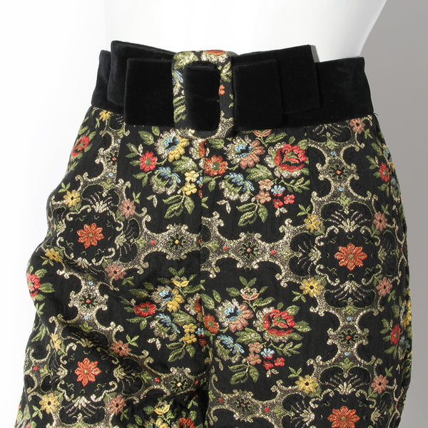 Moschino Cheap and Chic Floral Brocade Cropped Trouser