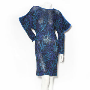 Missoni Blue Lurex Knit Shift Dress