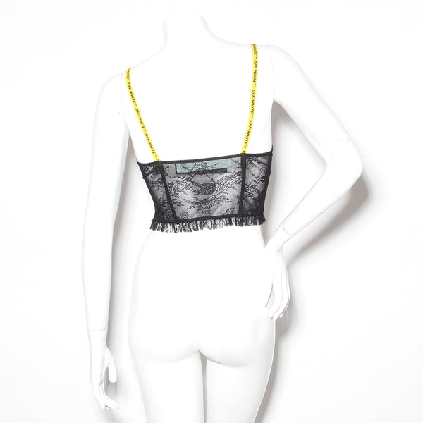 Off-White Lace Bustier