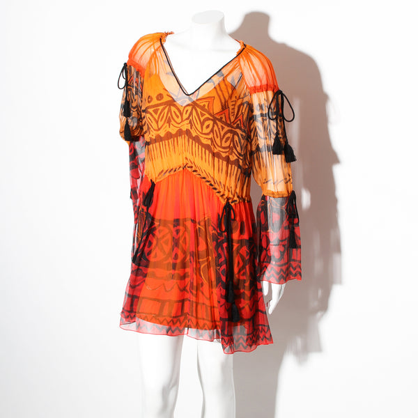 Alberta Ferretti Chiffon Mini Dress