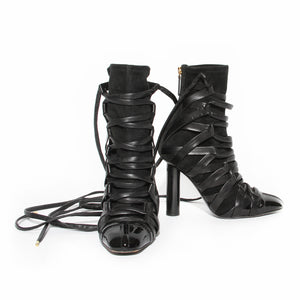 Tom Ford Lace Up Gladiator Heel Bootie