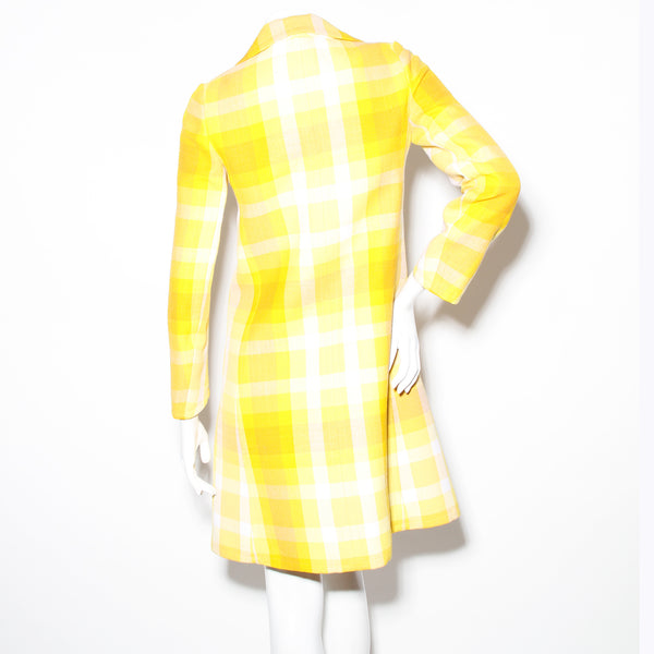 Ungaro Yellow Plaid Jacket