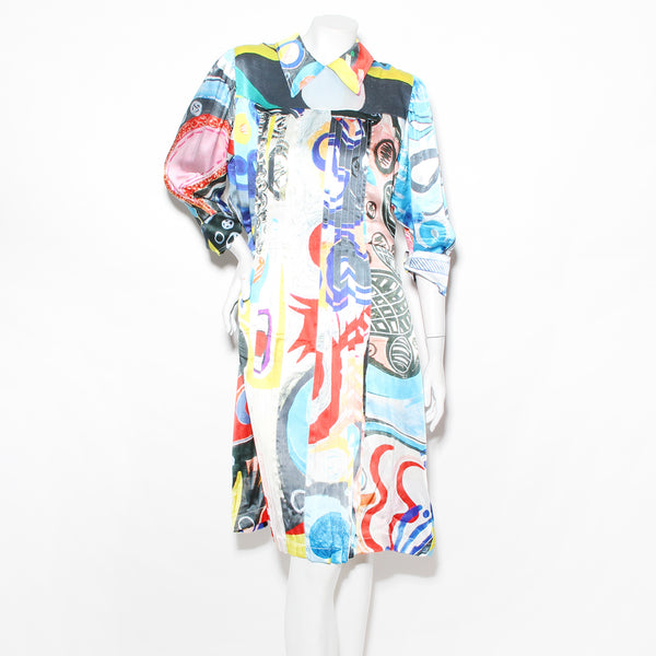 Charles Jeffrey Silk Pleat Dress