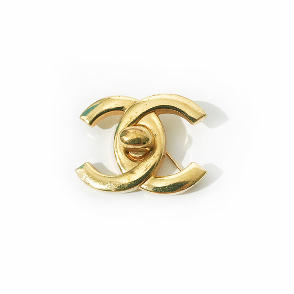 Vintage Chanel Turnlock Brooch
