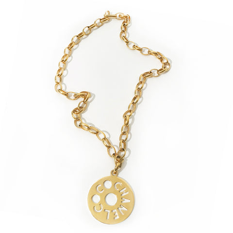 Vintage Chanel COCO Medallion Necklace