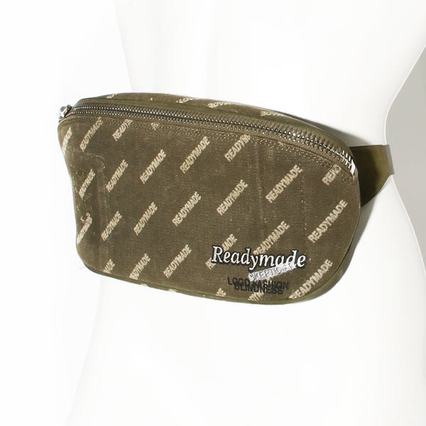 Readymade Olive Green Repurposed Canvas Waistbag