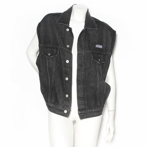 Heron Preston Black Denim Oversize Vest