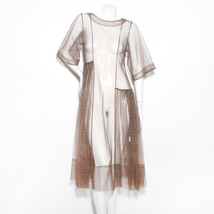 Goddard Chiffon Check Dress