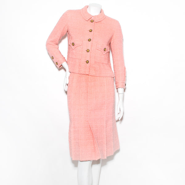 Chanel Pleated Skirt Suit