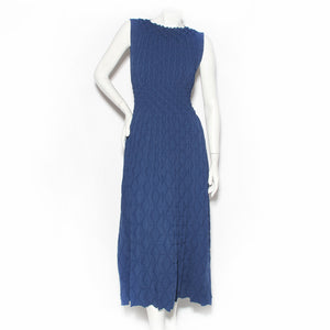"Azzedine Alaïa Blue Sculptured Knit ""New Look"" Dress"