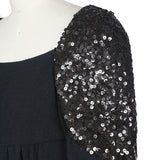 Sequined Sleeve Dress