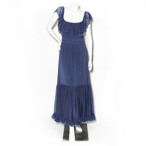 Gucci Navy Blue Bohemian Dress