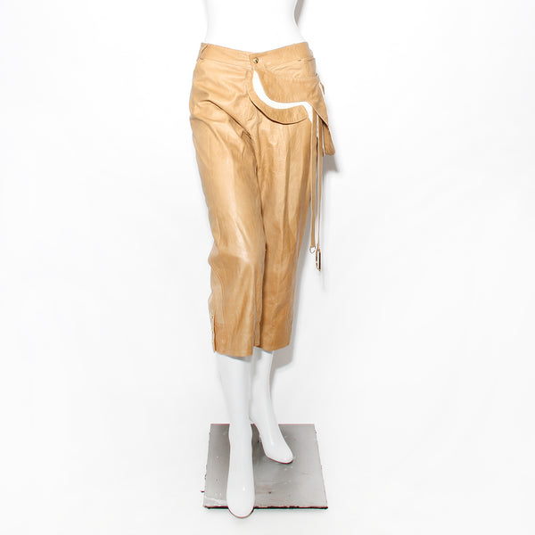 Dior Leather Saddle Pants