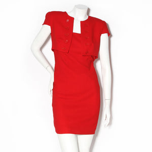 Alexander McQueen Red Shift Dress