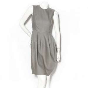 Yves Saint Laurent Grey Wool Sheath Dress FW2008