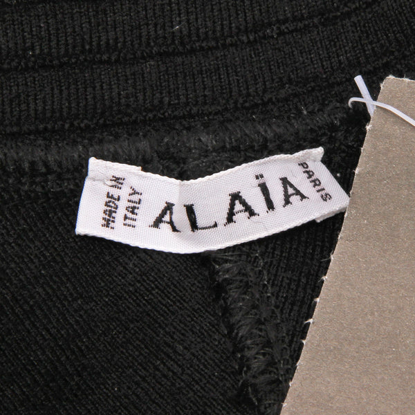 Azzedine Alaïa Black Knit Mini Skirt