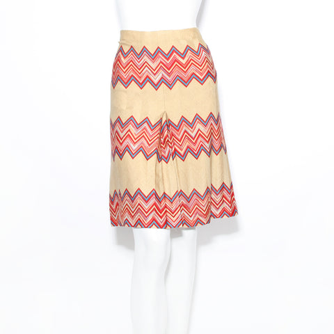 Missoni Tan Zig Zag Skirt