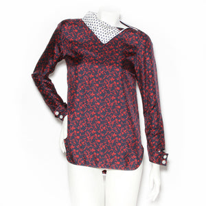 Calvin Klein Multi Print Turtleneck Blouse