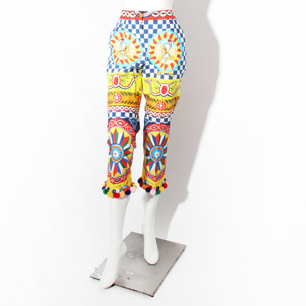 Dolce Agrigento Multicolor Pants