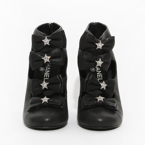 Chanel Star Bow Booties
