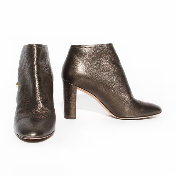 Jimmy Choo Metallic Leather Medal 85 Bootie