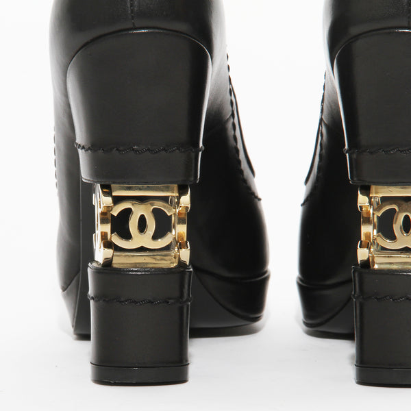 Chanel Split Heel Logo Pump